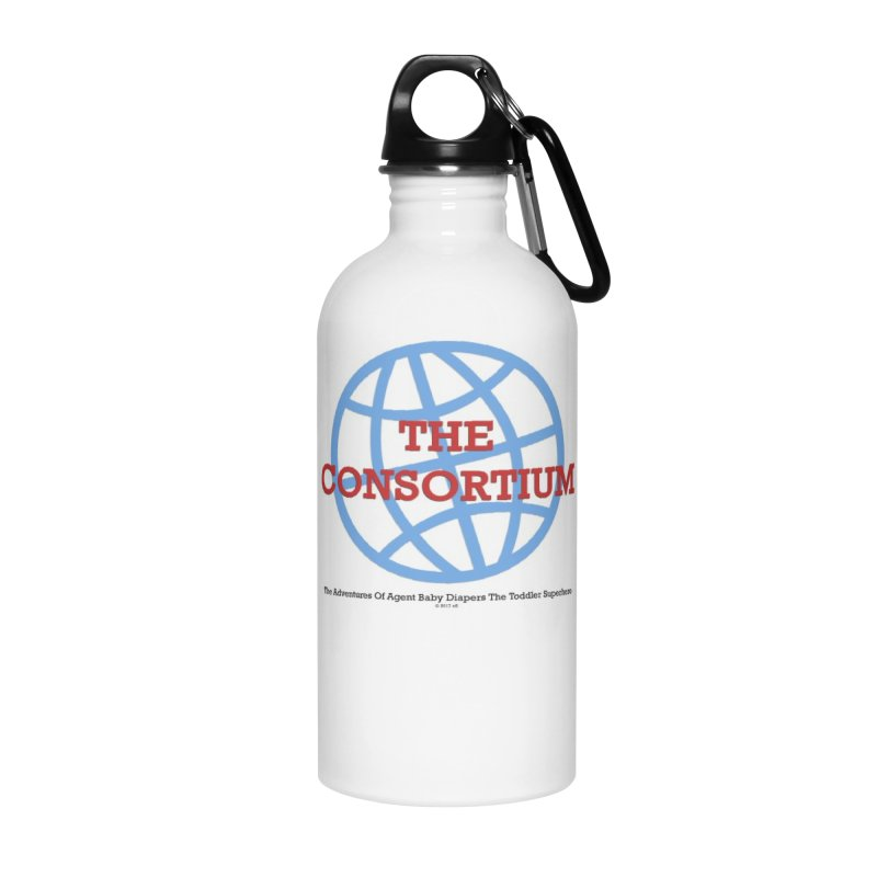 The Consortium Logo Accessories Water Bottle by OFL BDTS Shop