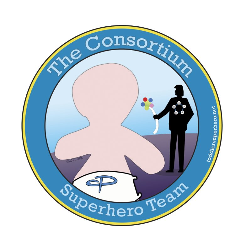 The Consortium Superhero Team Badge by OFL BDTS Shop