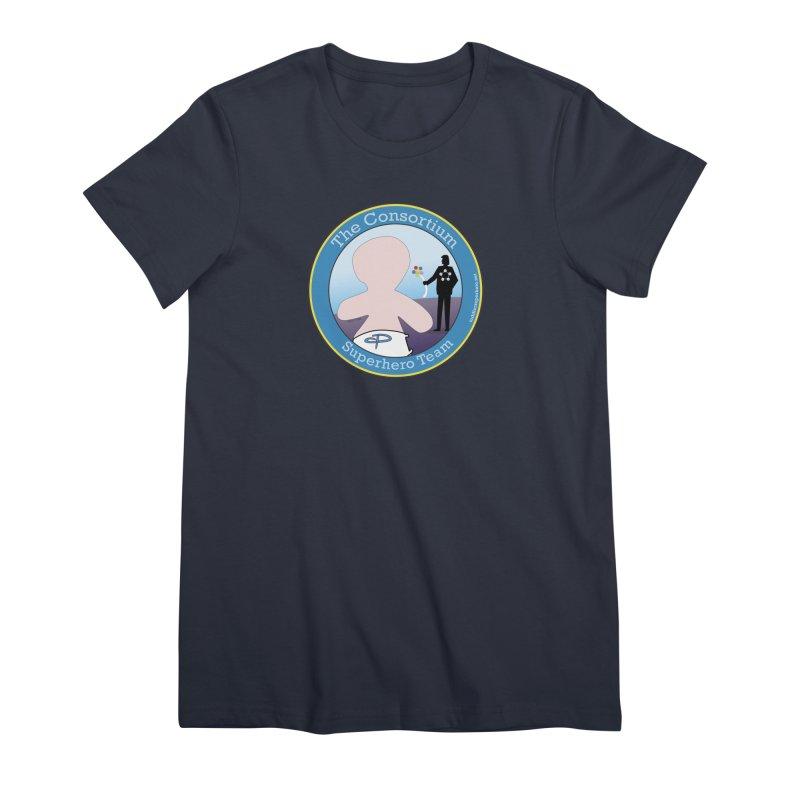 The Consortium Superhero Team Badge Women's Premium T-Shirt by OFL BDTS Shop