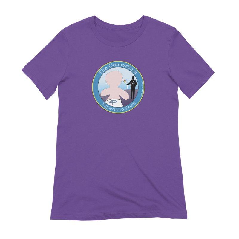 The Consortium Superhero Team Badge Women's Extra Soft T-Shirt by OFL BDTS Shop