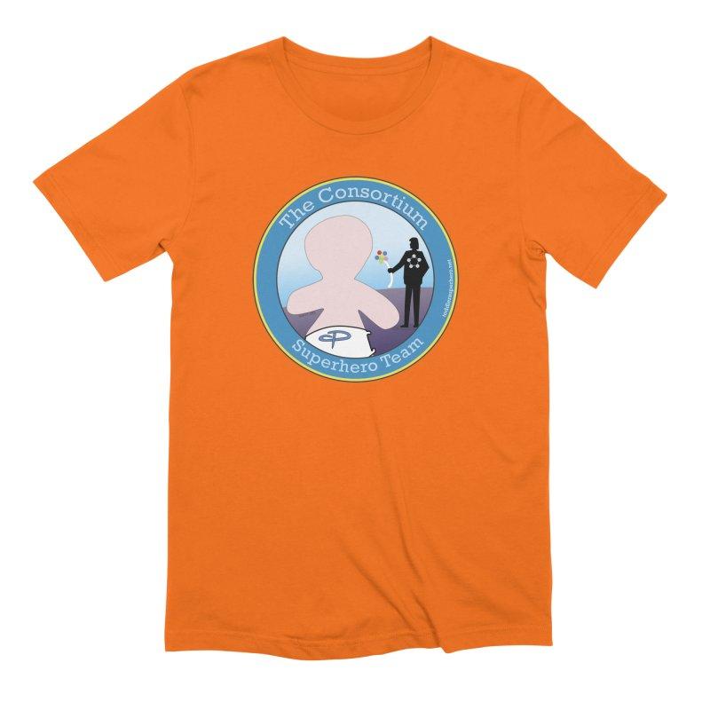 The Consortium Superhero Team Badge Men's Extra Soft T-Shirt by OFL BDTS Shop