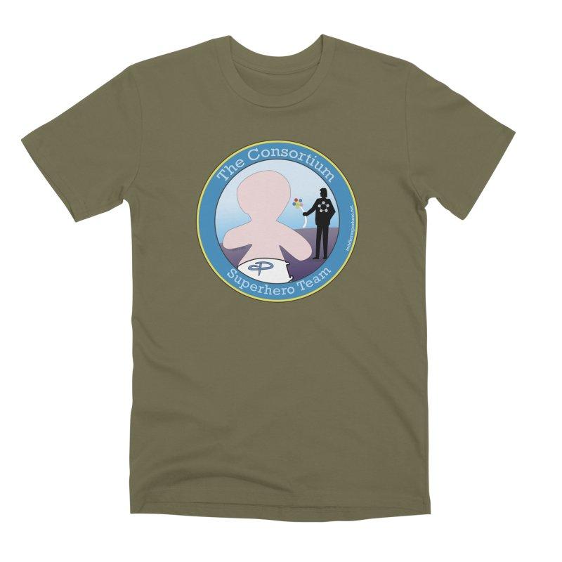 The Consortium Superhero Team Badge Men's Premium T-Shirt by OFL BDTS Shop