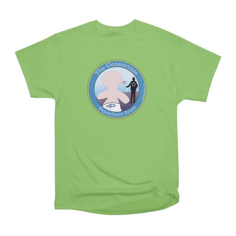 The Consortium Superhero Team Badge Men's Heavyweight T-Shirt by OFL BDTS Shop