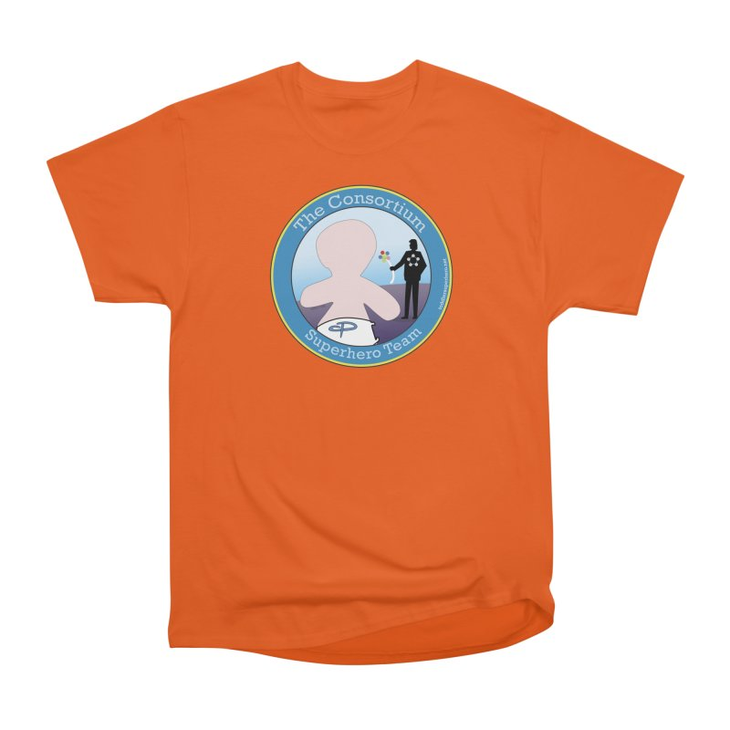 The Consortium Superhero Team Badge Women's Heavyweight Unisex T-Shirt by OFL BDTS Shop