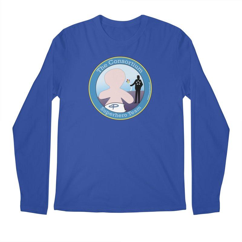 The Consortium Superhero Team Badge Men's Regular Longsleeve T-Shirt by OFL BDTS Shop