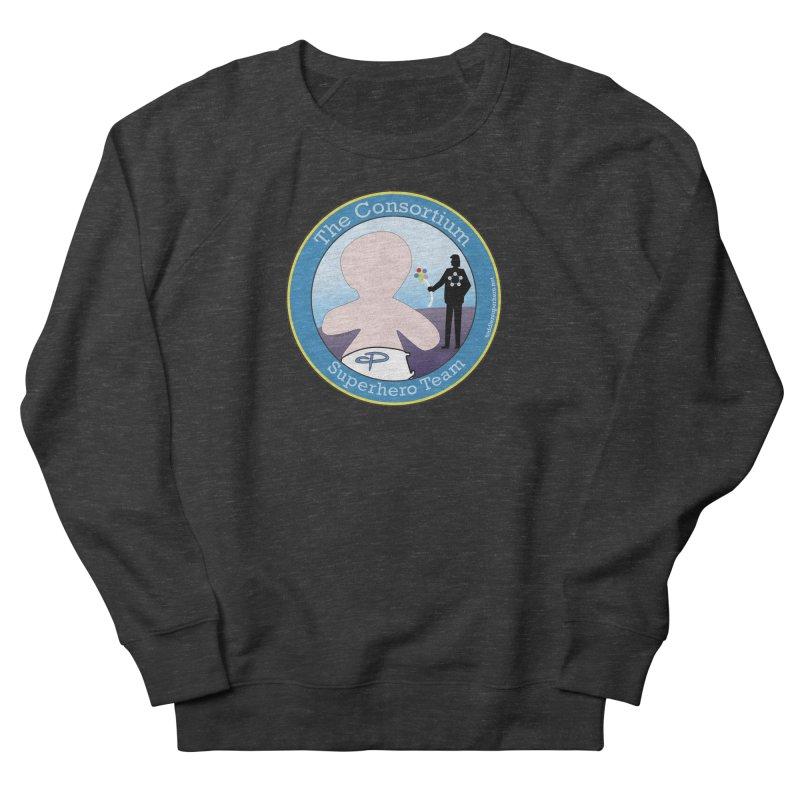 The Consortium Superhero Team Badge Women's French Terry Sweatshirt by OFL BDTS Shop