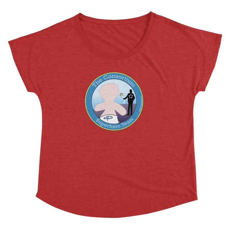The Consortium Superhero Team Badge Women's Dolman Scoop Neck by OFL BDTS Shop