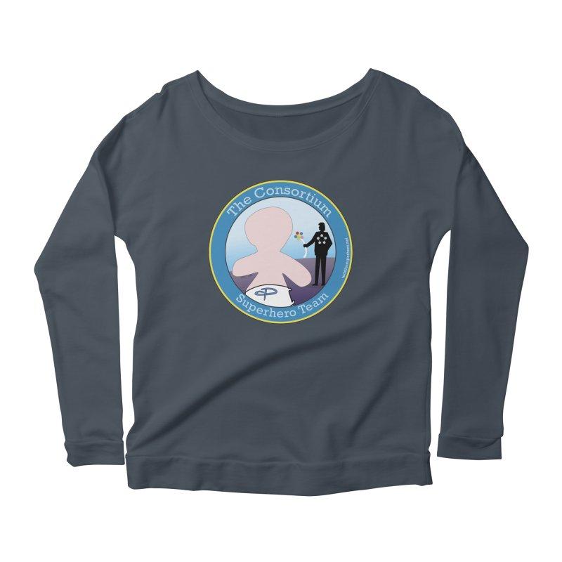The Consortium Superhero Team Badge Women's Scoop Neck Longsleeve T-Shirt by OFL BDTS Shop