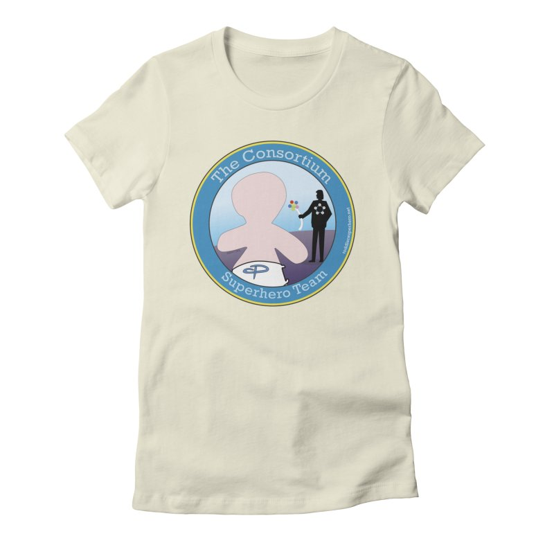 The Consortium Superhero Team Badge Women's Fitted T-Shirt by OFL BDTS Shop