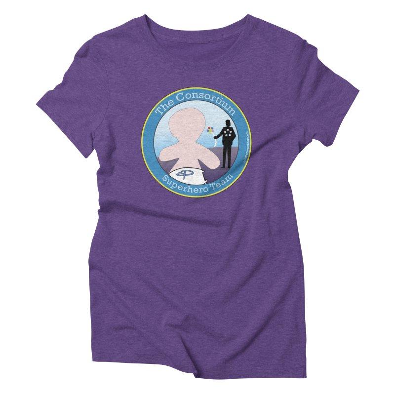 The Consortium Superhero Team Badge Women's Triblend T-Shirt by OFL BDTS Shop