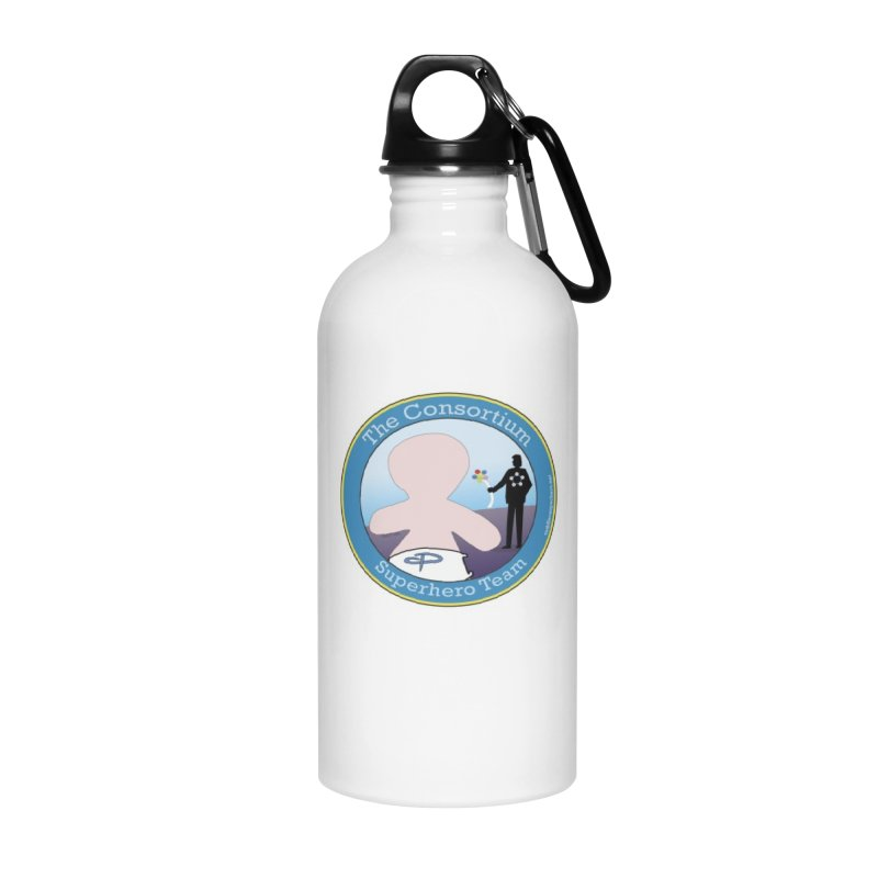 The Consortium Superhero Team Badge Accessories Water Bottle by OFL BDTS Shop