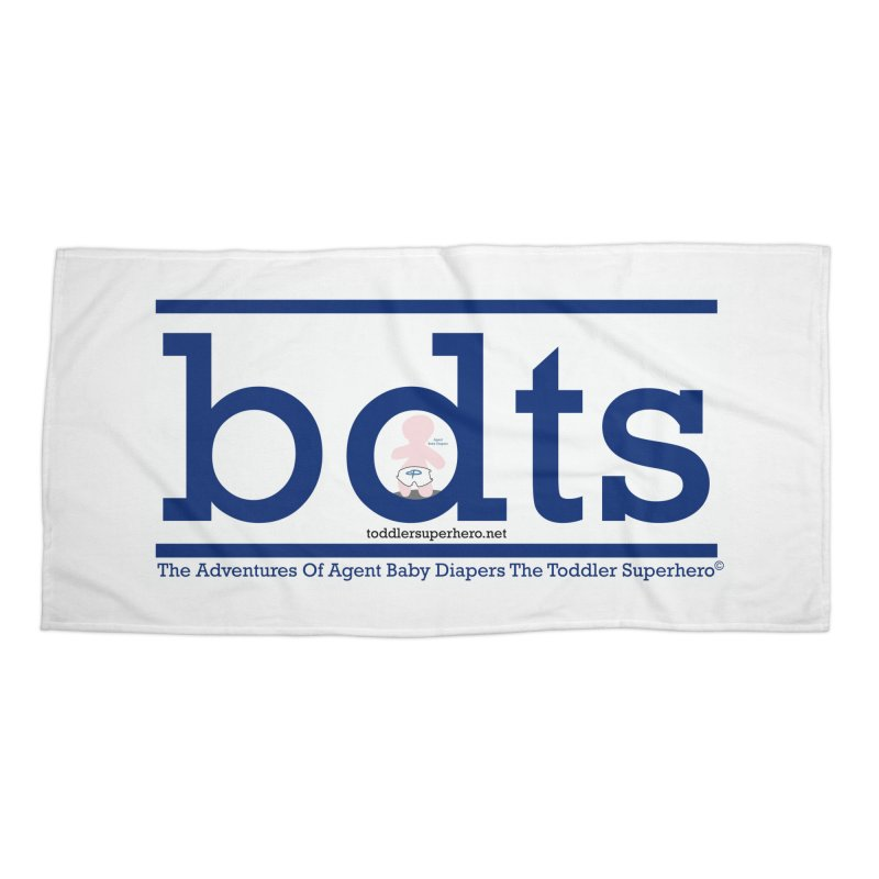 BDTS text logo Accessories Beach Towel by OFL BDTS Shop