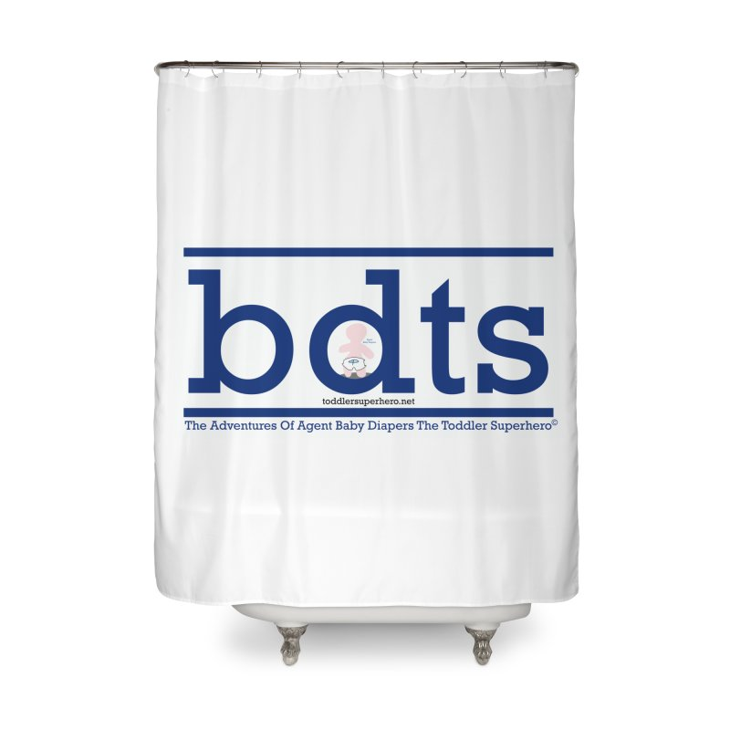 BDTS text logo Home Shower Curtain by OFL BDTS Shop
