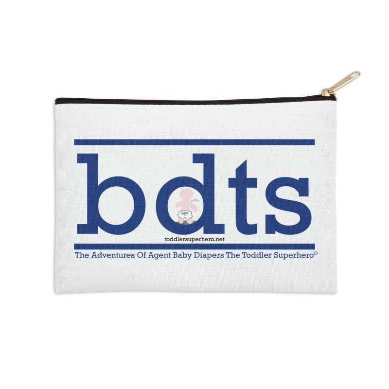 BDTS text logo Accessories Zip Pouch by OFL BDTS Shop