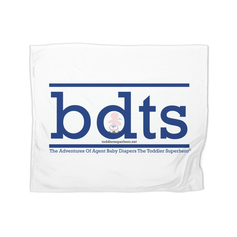 BDTS text logo Home Fleece Blanket Blanket by OFL BDTS Shop
