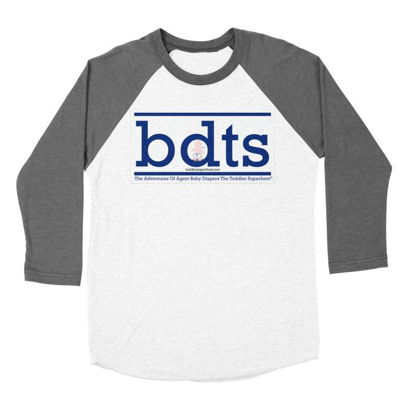 BDTS text logo Women's Baseball Triblend Longsleeve T-Shirt by OFL BDTS Shop