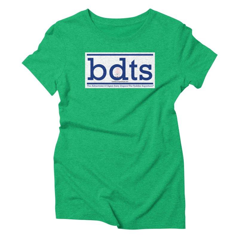 BDTS text logo Women's Triblend T-Shirt by OFL BDTS Shop