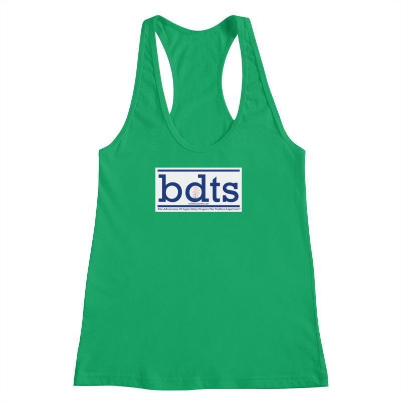 BDTS text logo Women's Racerback Tank by OFL BDTS Shop