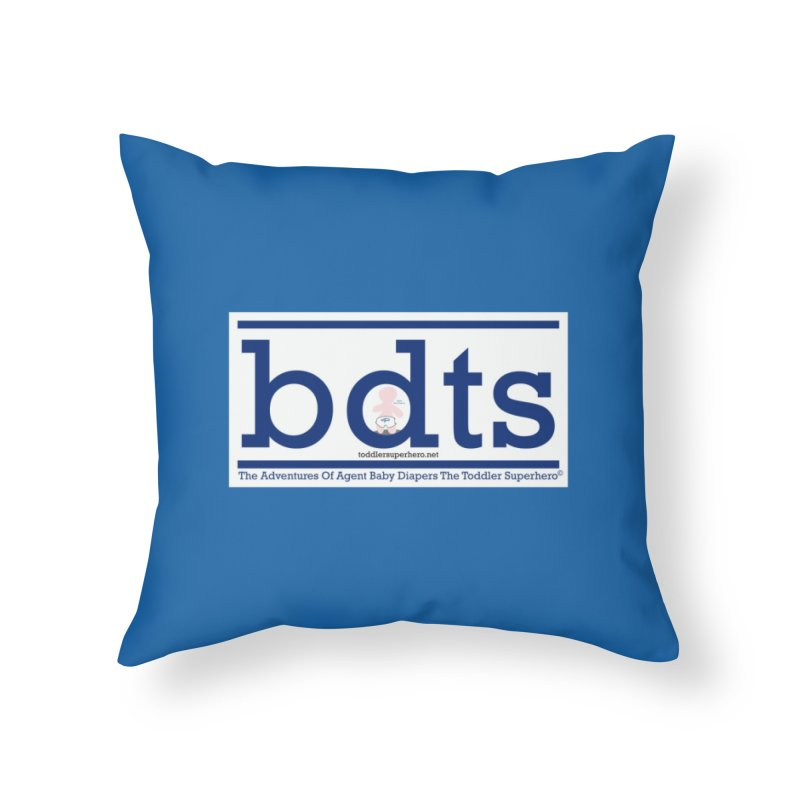 BDTS text logo Home Throw Pillow by OFL BDTS Shop
