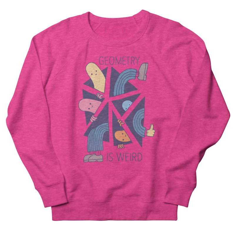 GEOMETRY IS WEIRD Men's French Terry Sweatshirt by Beanepod