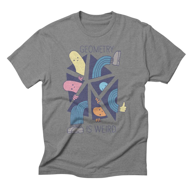 GEOMETRY IS WEIRD Men's Triblend T-Shirt by Beanepod