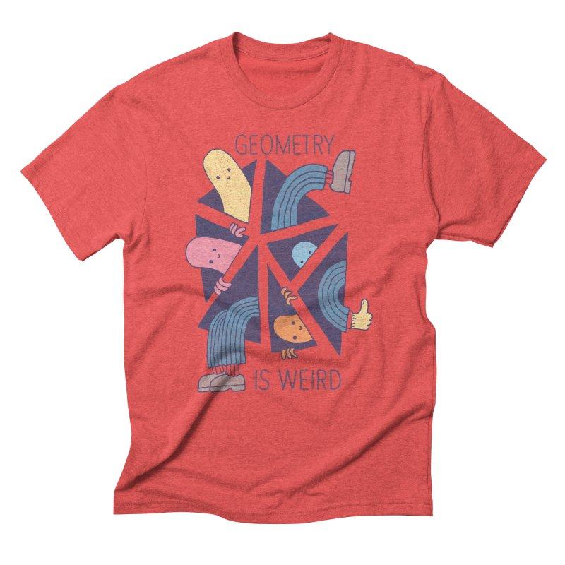 GEOMETRY IS WEIRD Men's Triblend T-shirt by Beanepod