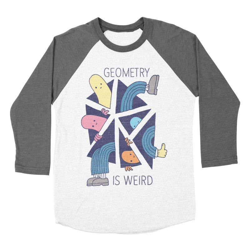 GEOMETRY IS WEIRD Women's Baseball Triblend Longsleeve T-Shirt by Beanepod