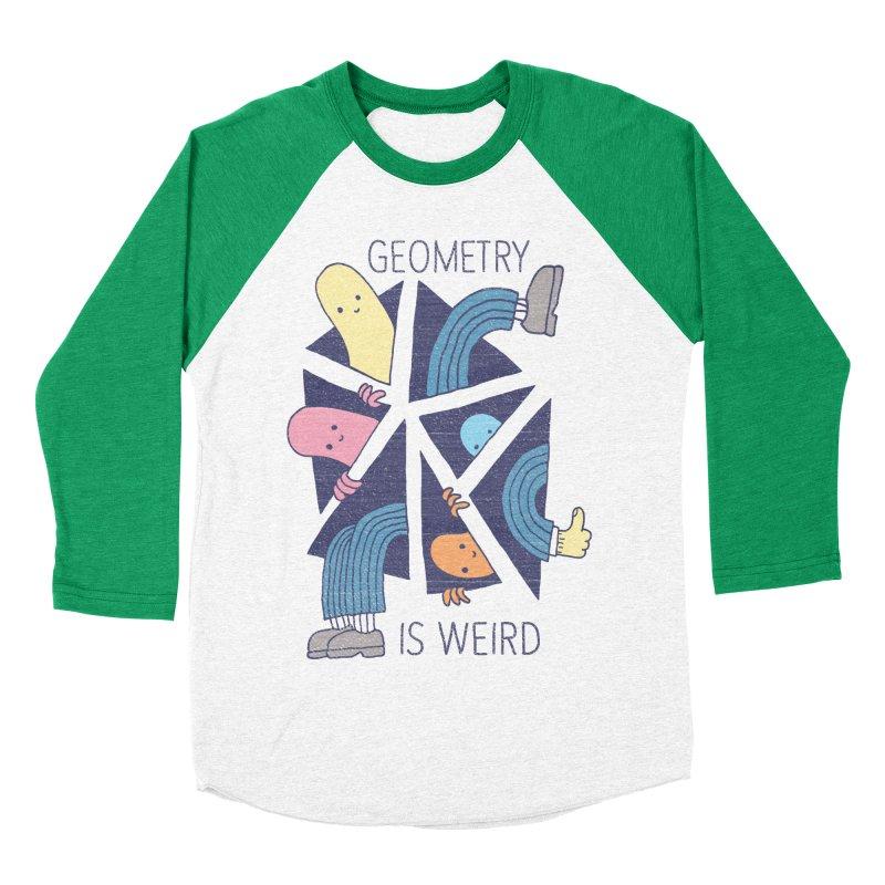 GEOMETRY IS WEIRD Women's Baseball Triblend T-Shirt by Beanepod