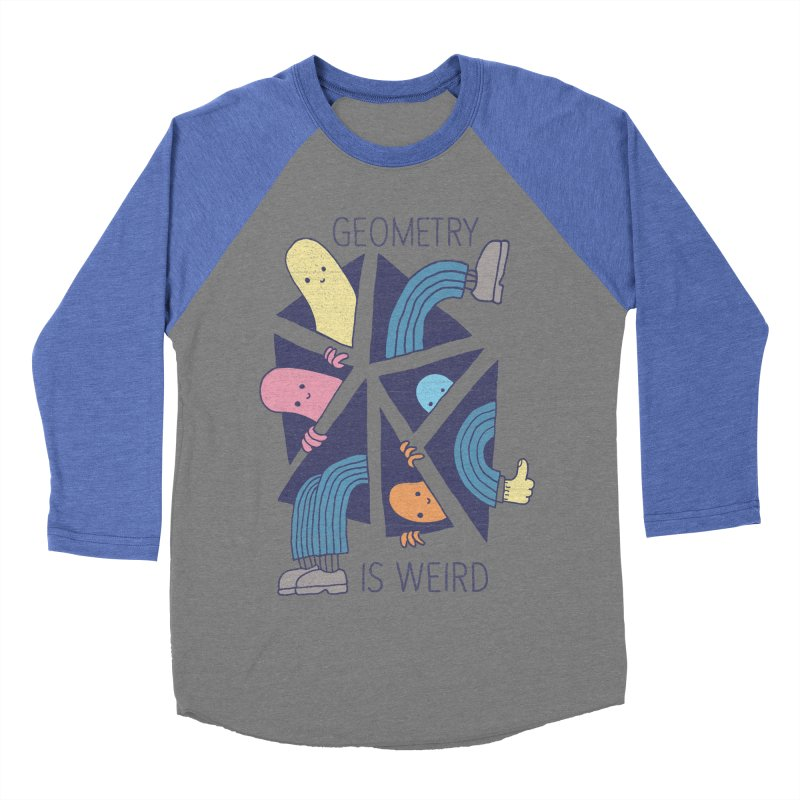 GEOMETRY IS WEIRD Men's Baseball Triblend Longsleeve T-Shirt by Beanepod