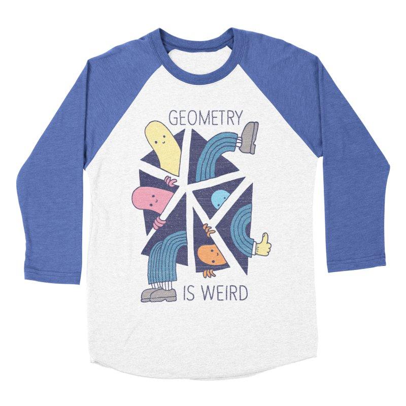 GEOMETRY IS WEIRD Men's Baseball Triblend T-Shirt by Beanepod