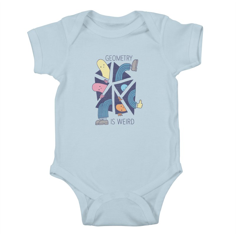 GEOMETRY IS WEIRD Kids Baby Bodysuit by Beanepod