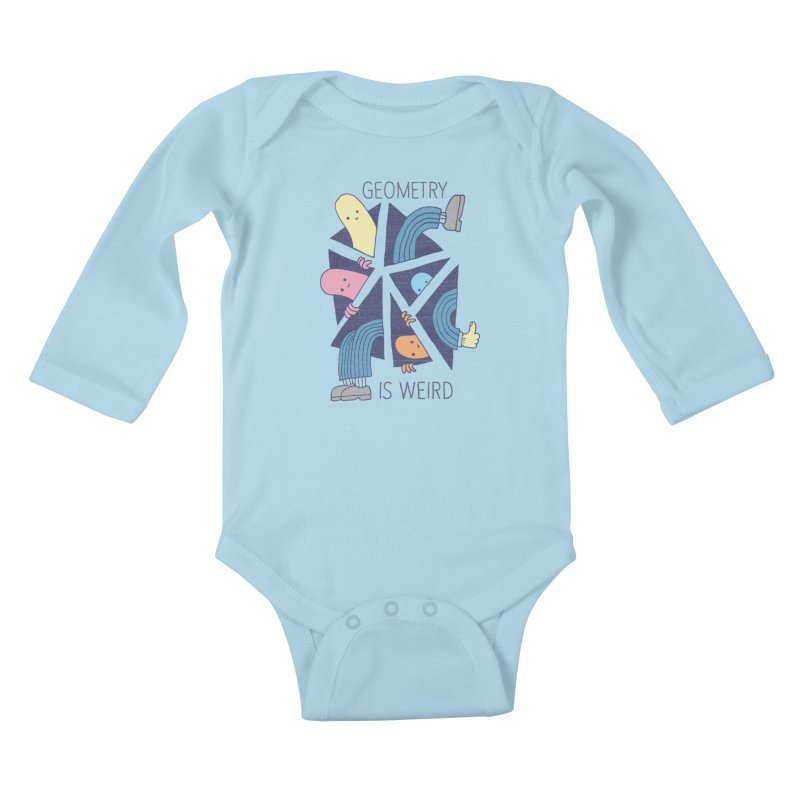 GEOMETRY IS WEIRD Kids Baby Longsleeve Bodysuit by Beanepod