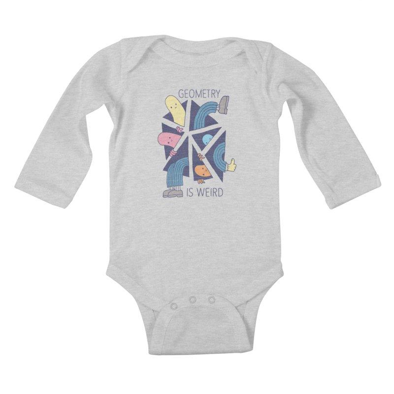GEOMETRY IS WEIRD Kids Baby Longsleeve Bodysuit by Beanepod