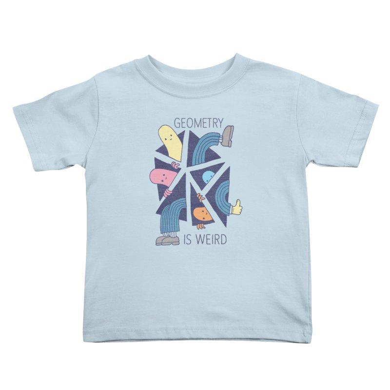 GEOMETRY IS WEIRD Kids Toddler T-Shirt by Beanepod