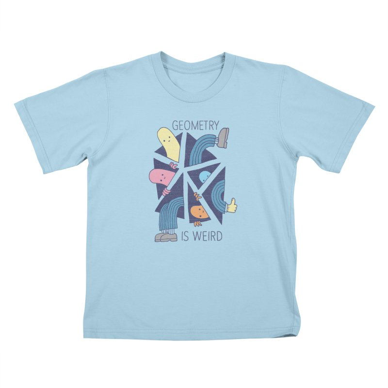GEOMETRY IS WEIRD Kids T-Shirt by Beanepod