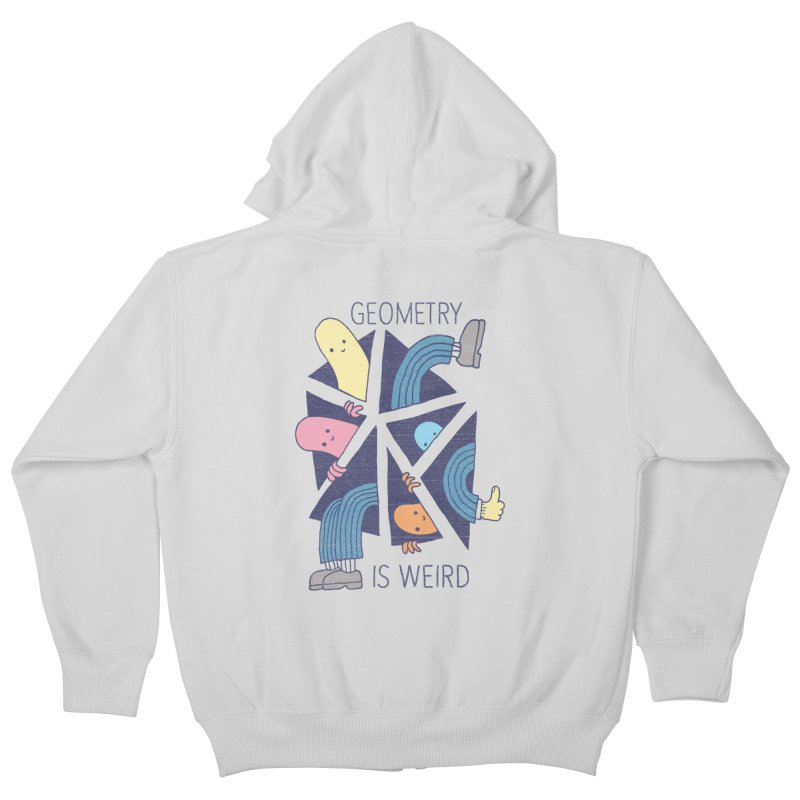 GEOMETRY IS WEIRD Kids Zip-Up Hoody by Beanepod