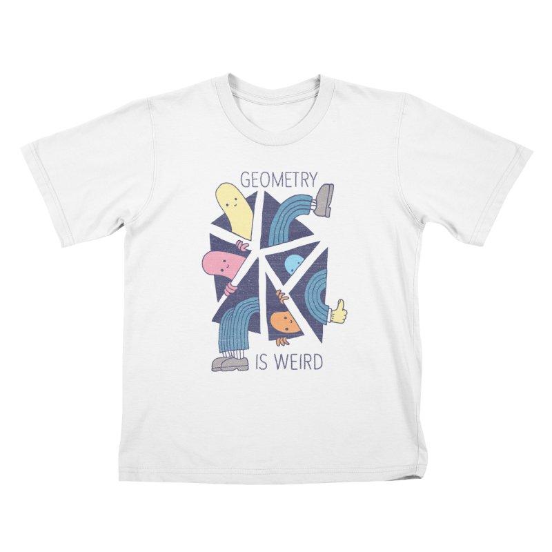 GEOMETRY IS WEIRD Kids T-Shirt by Beanepod