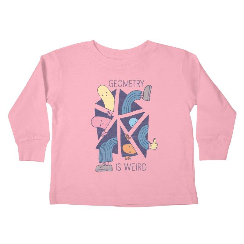 GEOMETRY IS WEIRD Kids Toddler Longsleeve T-Shirt by Beanepod