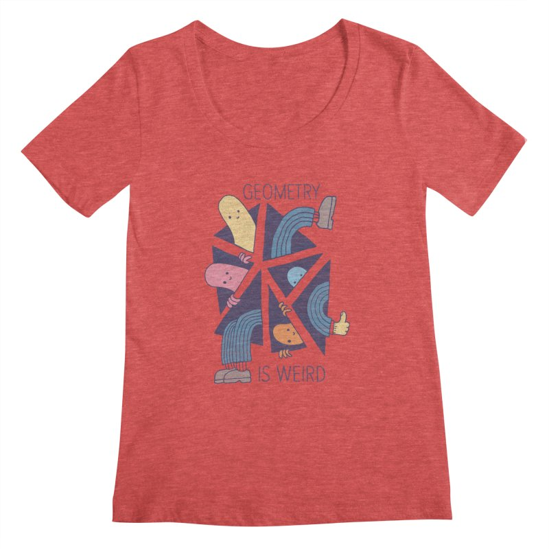 GEOMETRY IS WEIRD Women's Scoopneck by Beanepod