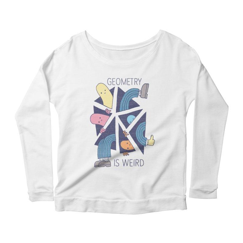 GEOMETRY IS WEIRD Women's Scoop Neck Longsleeve T-Shirt by Beanepod