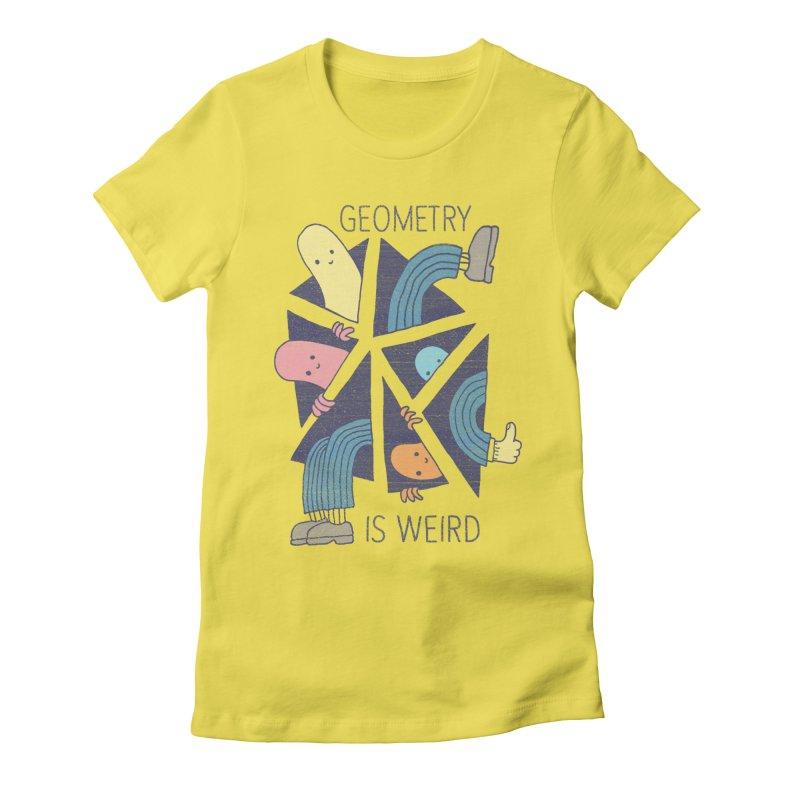GEOMETRY IS WEIRD Women's T-Shirt by Beanepod