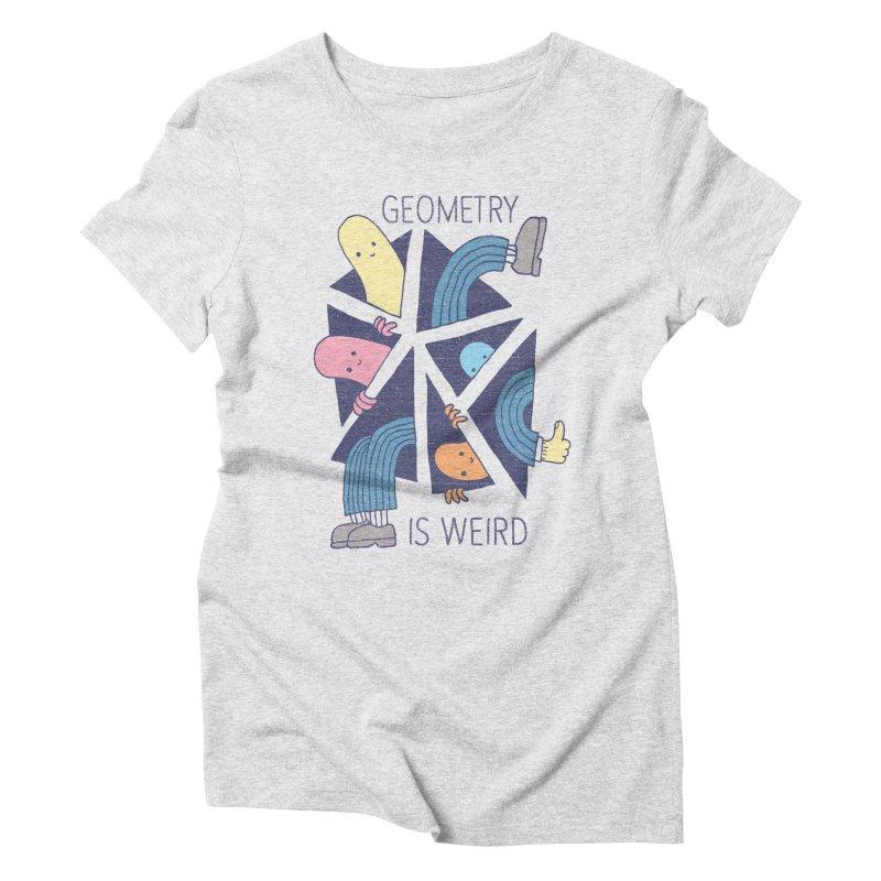 GEOMETRY IS WEIRD Women's Triblend T-shirt by Beanepod