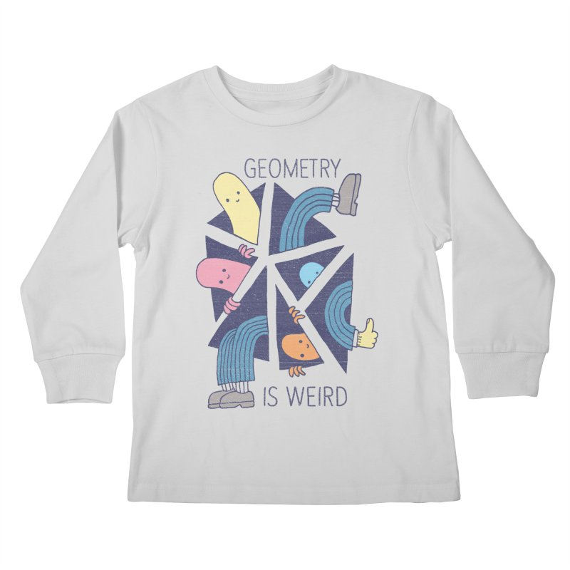 GEOMETRY IS WEIRD Kids Longsleeve T-Shirt by Beanepod