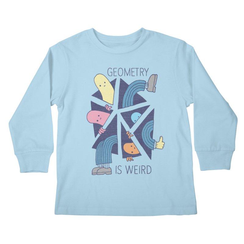 GEOMETRY IS WEIRD Kids Longsleeve T-Shirt by Beanepod