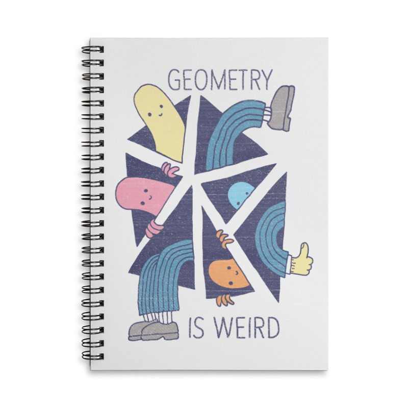 GEOMETRY IS WEIRD Accessories Lined Spiral Notebook by Beanepod