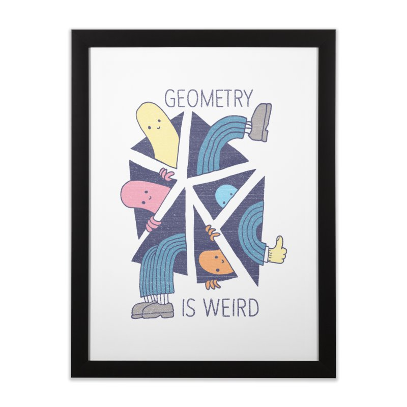GEOMETRY IS WEIRD Home Framed Fine Art Print by Beanepod