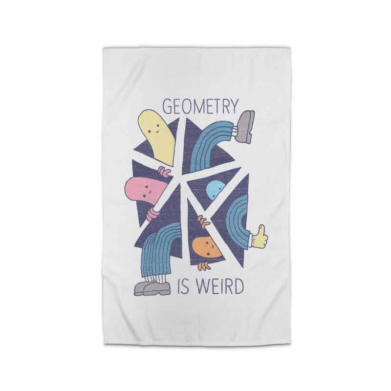 GEOMETRY IS WEIRD Home Rug by Beanepod