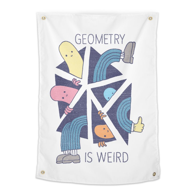 GEOMETRY IS WEIRD Home Tapestry by Beanepod