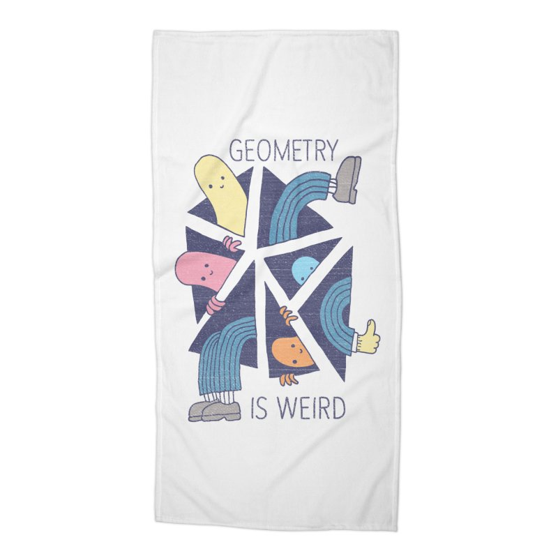GEOMETRY IS WEIRD Accessories Beach Towel by Beanepod