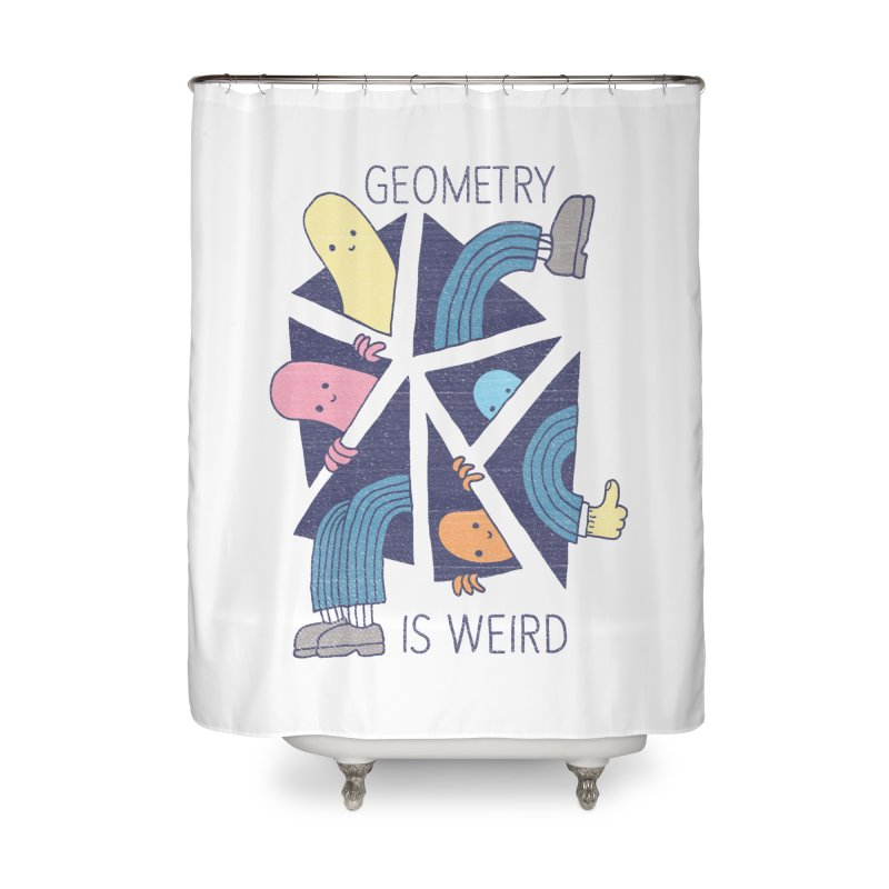 GEOMETRY IS WEIRD Home Shower Curtain by Beanepod